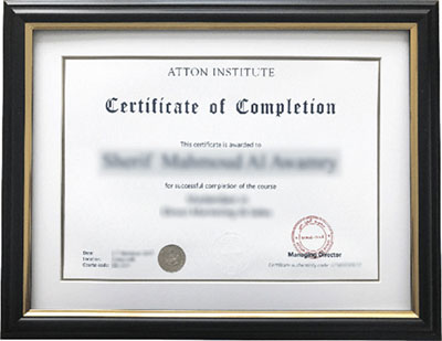 Atton Institute Certificate Authenticity Check