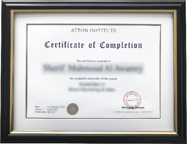 Image for: Atton Institute Certificate